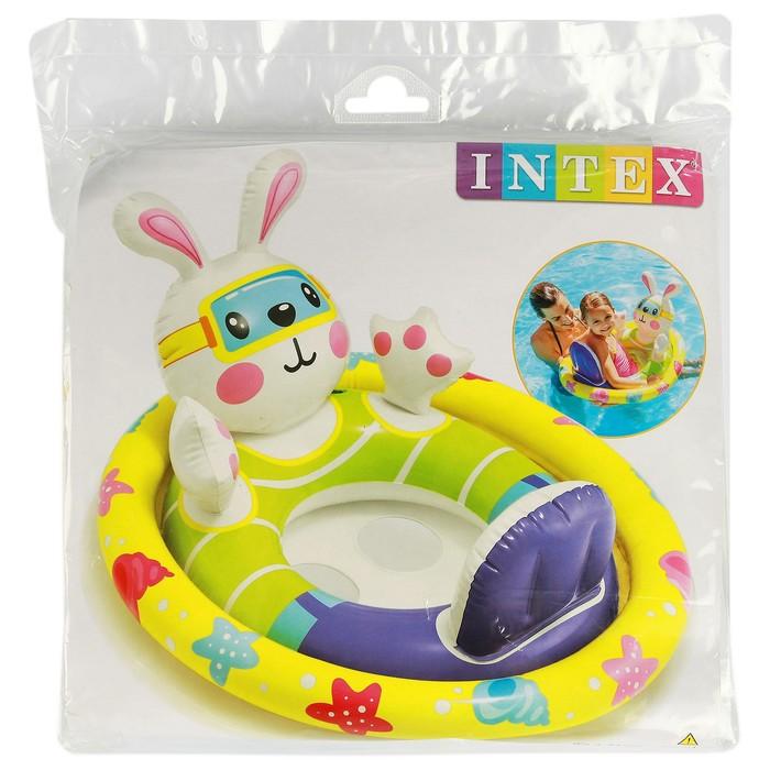 Круг для плавания с сиденьем «Зверюшки», от 3 до 4 лет, МИКС 59570NP INTEX - фото 379597489
