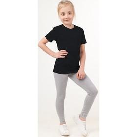 Футболка для девочки, рост 104 см, цвет чёрный