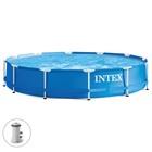 Бассейн каркасный Metal Frame Set, круглый, 366х76 см, насос с фильтром 220 В 28212 INTEX