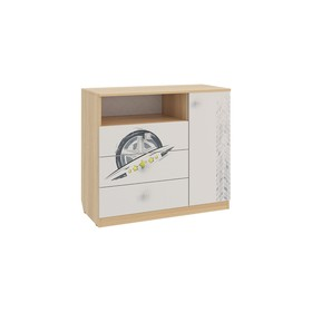 Комод Форсаж, 900×420×800, дуб сонома/белый