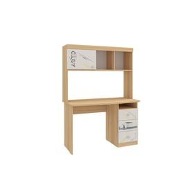 Стол Форсаж, 1000×600×1530, дуб сонома/белый