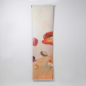Штора рулонная 3D принт «Маки маслом», 60×200 см (с учётом креплений 3,5 см)