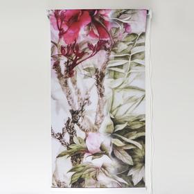 "Curtain roll 3D print 90 x 200 cm ""Peonies"""