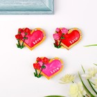 "Magnet ""Rose heart framed"", a MIX"