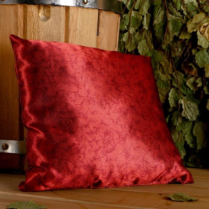 Подушка сувенирная, 22×22 см,  можжевельник, лаванда, чабрец, мята, шалфей