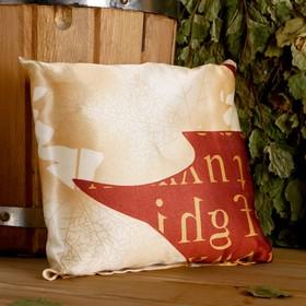 Подушка сувенирная, 22×22 см, мята, можжевельник, микс