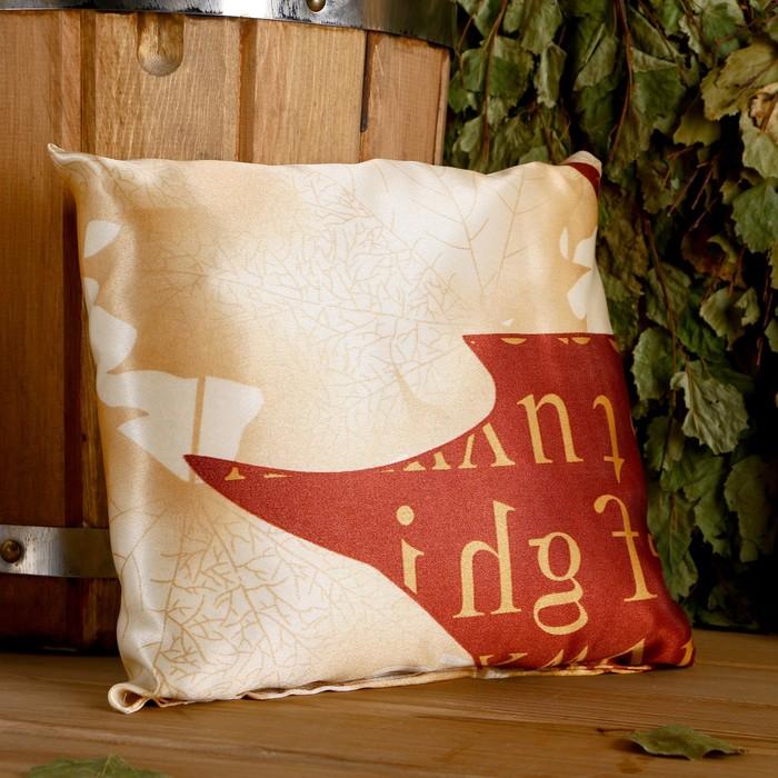 Подушка сувенирная, 22×22 см, мята, можжевельник