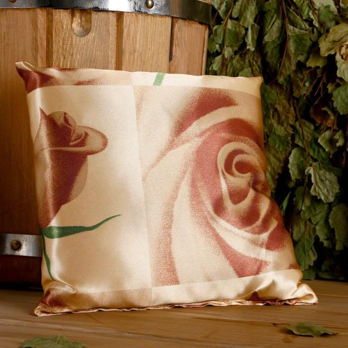 Подушка сувенирная, 22×22 см, мята, лаванда, шалфей, зверобой, роза чайная