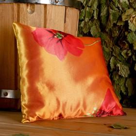 Фито-подушка сувенирная, 22×22 см,  можжевельник, морские водоросли, микс