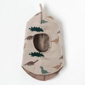 "Шапка-шлем Крошка Я ""Дино"", бежевый, р.48"