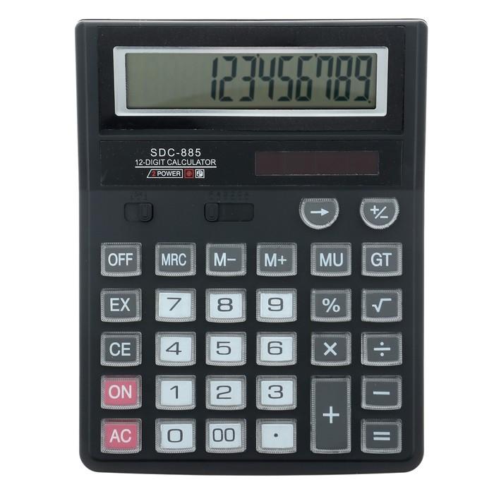 Калькулятор настольный 12-разрядный SDC-885 двойное питание
