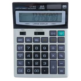 Калькулятор настольный, 12-разрядный, CT-912, двойное питание, средний