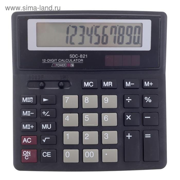 Калькулятор настольный 12-разрядный SDC-821 двойное питание