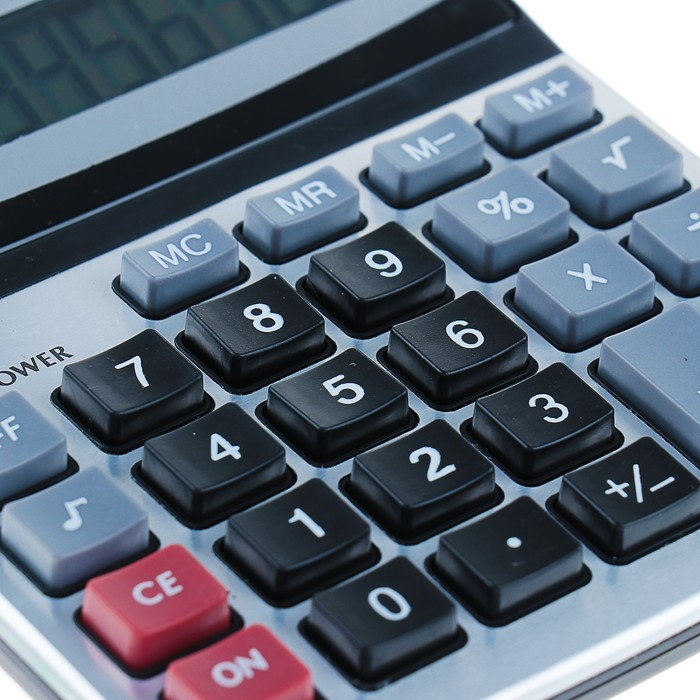 Калькулятор настольный, 8-разрядный, KK-800A, двойное питание - фото 408710004