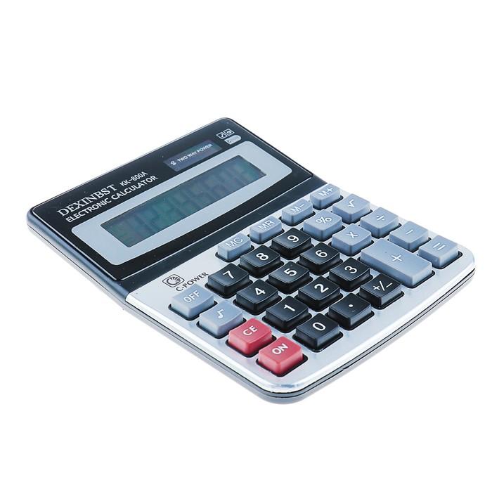 Калькулятор настольный, 8-разрядный, KK-800A, двойное питание - фото 408710005