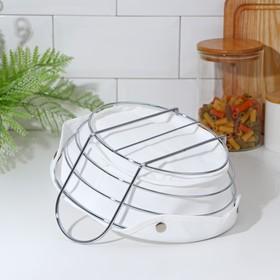 Корзина для хлеба 22.5×23×11 см, хром