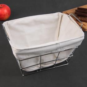 Bread basket 27.3x25. 3x16 cm, chrome