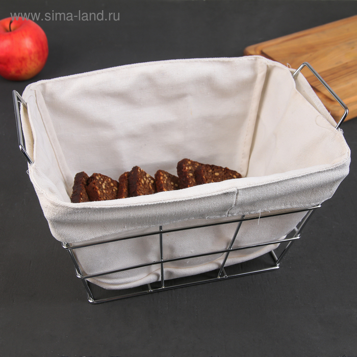 The bread basket 27. 3x25. 3х16 cm, chrome
