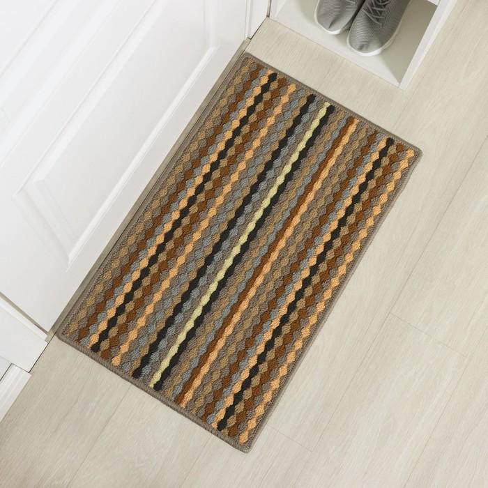 "The Mat for doorway 77х47 cm ""Color pigtail"""