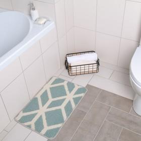 """The bath Mat 40x60 cm """"ethnics"""" color grey white"""