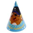"""Праздничный колпак """"С Днём Рождения!"""" мишка-пират"""