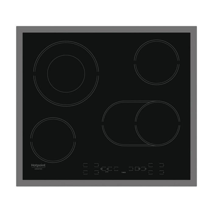 Варочная поверхность Hotpoint-Ariston HAR 642 DO X, электрическая, 4 конфорки, черная 332647