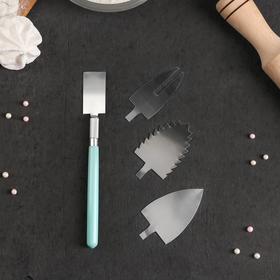 Набор инструментов для украшения кондитерских изделий: держатель, 4 насадки