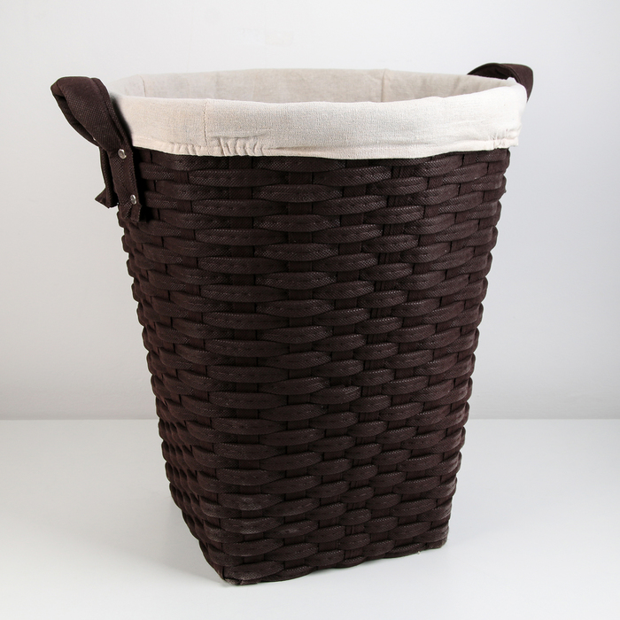 Корзина универсальная плетёная «Элегант», 39,5×39,5×43,5 см, цвет коричневый - фото 4636853