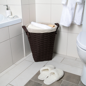 Корзина универсальная плетёная «Элегант», 39,5×39,5×43,5 см, цвет коричневый - фото 4636855