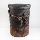 Корзина универсальная плетёная с крышкой «Грей», 40×40×56 см, цвет коричневый - фото 4636829