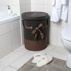 Корзина универсальная плетёная с крышкой «Грей», 40×40×56 см, цвет коричневый - фото 4636832