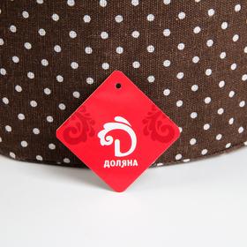 Корзина универсальная плетёная с крышкой «Грей», 40×40×56 см, цвет коричневый - фото 4636833