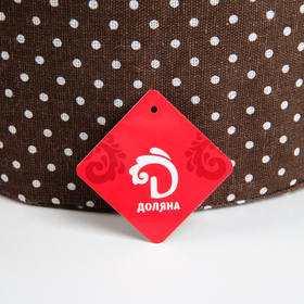 Корзина универсальная плетёная с крышкой «Грей», 32,5×32,5×41,5 см, цвет коричневый - фото 4636823