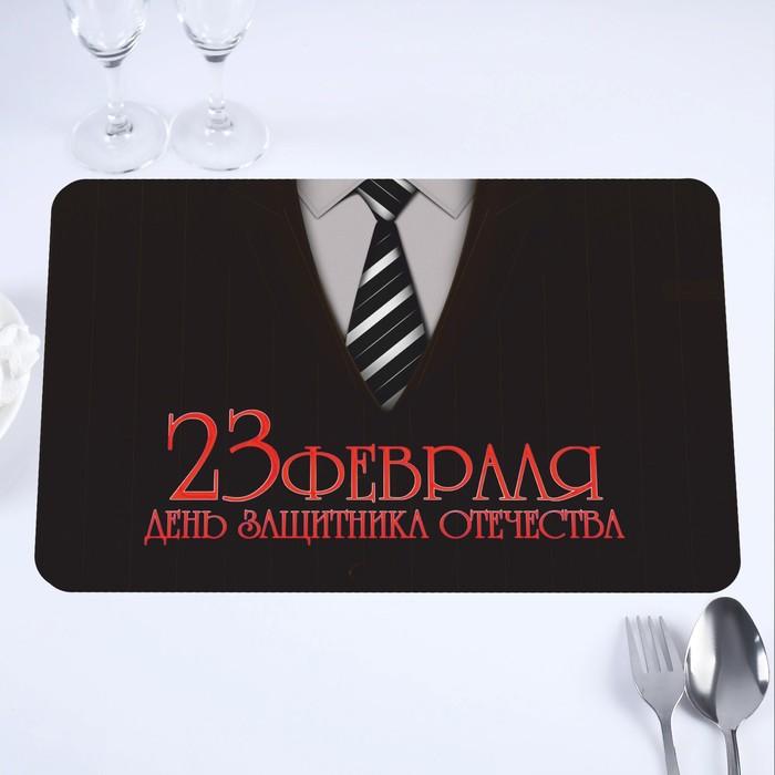 """Салфетка на стол """"День Защитника Отечества"""" галстук, 40 х 25 см"""