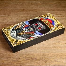 "Набор: нарды+шашки ""Calavera"" 50х25х7.2 см, в коробке"