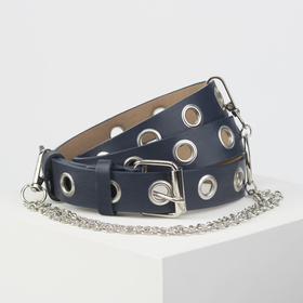 Strap wives 05-01-03-01, 3*0,2*105 screw, smooth, buckle metal, chain, blue