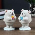"""Souvenir Polyresin in-the-box """"White bear"""" MIX 9,5x5,5x5,5 cm"""