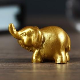 Сувенир полистоун 'Золотой слонёнок микро' 2,5х2,5х3,6 см Ош