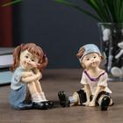 """Souvenir Polyresin """"Girl/Boy pranksters"""" MIX 7,8x5,3x5 cm"""
