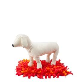 Игровой коврик Osso Fashion  для поиска лакомств, 65 х 45 см, серый/оранжевый