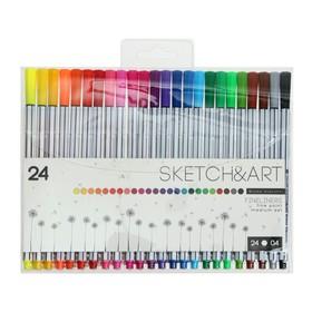 Набор ручек капиллярных 24 цвета Basic, узел 0.4 мм, в пластиковой коробке