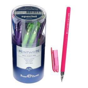 Ручка шариковая PointWrite Special, узел 0.38 мм, синие чернила, матовый корпус Silk Touch, МИКС