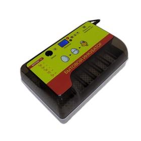 Инкубатор автоматический с универсальными лотками, вместимость до 12 яиц, встроенный овоскоп