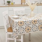 """Openwork Lace oilcloth (roll 20 metres), width 137 cm """"Asters"""" the color orange-white"""
