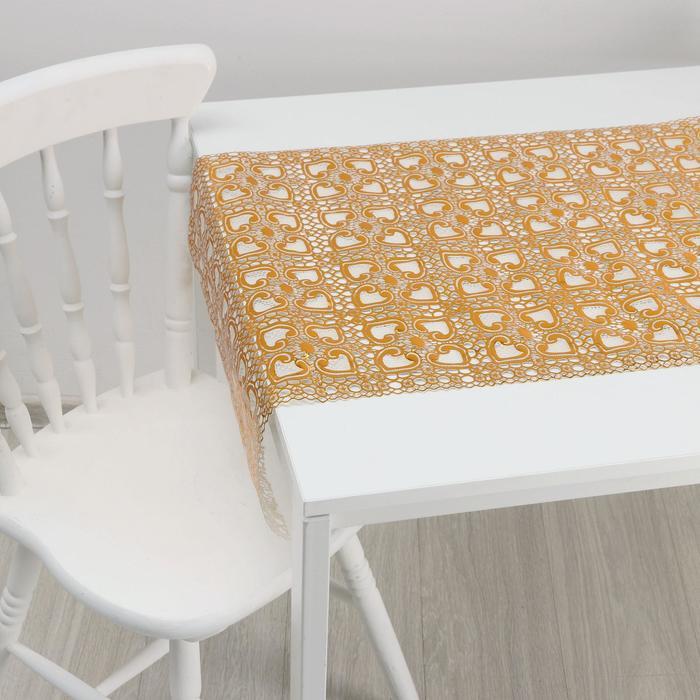 Клеёнка ПВХ «Сильви», ширина 50 см, рулон 20 метров, цвет золотой