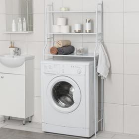 Стеллаж над стиральной машинкой 65×25×152 см, цвет белый