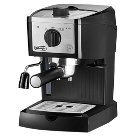 Кофеварка Delonghi EC 157, рожковая, 1100 Вт, 1 л, молотый и таблетированный, чёрная