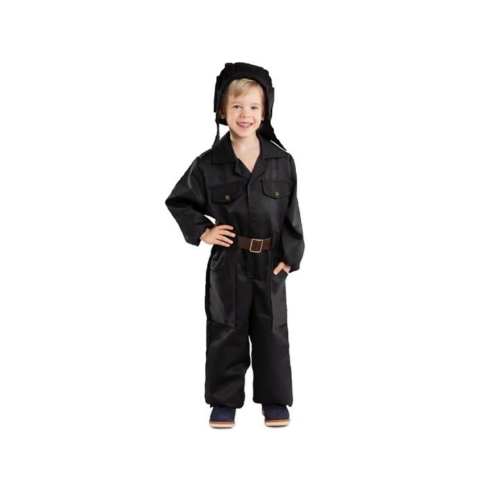 Карнавальный костюм «Танкист», комбинезон, ремень, шлем, 3-5 лет, рост 104-116 см - фото 798431476