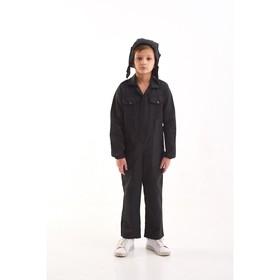 Карнавальный костюм «Танкист», комбинезон, ремень, шлем, 5-7 лет, рост 122-134 см