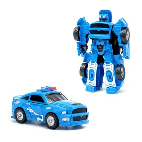 """Transformer robot """"Police"""", light and sound effects PACKAGE"""
